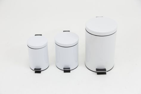 Cubo pedal blanco
