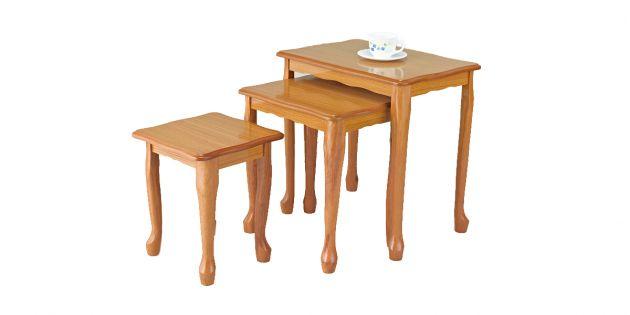 Set de 3 mesas para té en MDF