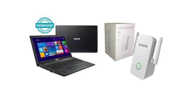 NOTEBOOK ASUS 15.6 Fact Ref + Extensor señal wifi Tenda