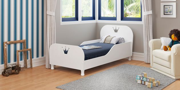 Mini Cama Rei-Rainha Blanco Brillo