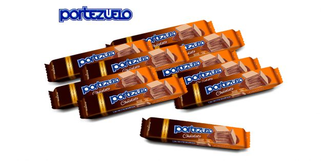 Pack x10 galletas obleas de chocolate