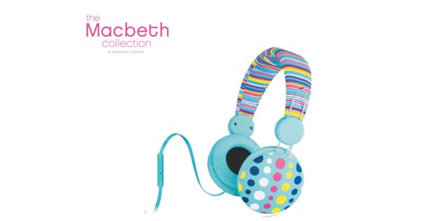 Auriculares  Macbeth fashion - Stripe Poppy Dot
