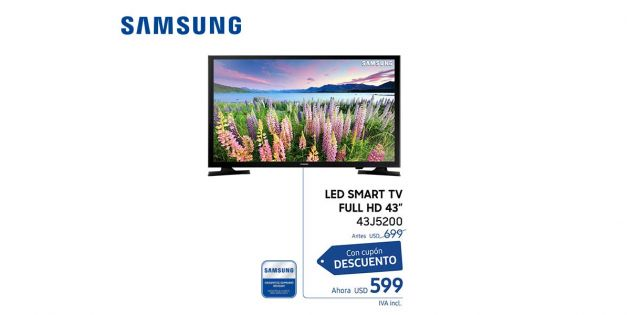 LED SMART TV Samsung 43 FULL HD
