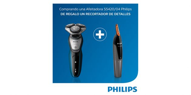 Afeitadora Serie 5000 Philips mas Recortado Philips de regalo