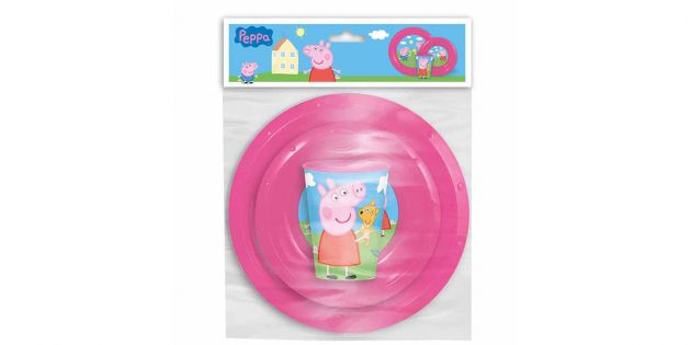 SET PLATO BOWL Y VASO 260ML PEPPA PIG