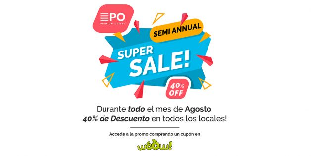 40% OFF en Premium Outlet - SEMI-ANNUAL SUPER SALE!