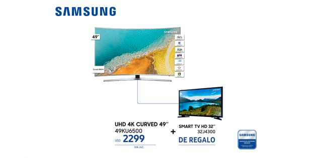 LED Smart TV Samsung 49 4K Curvo + Smart TV Samsung LED 32
