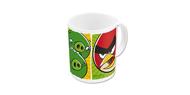 MUG CERAMICA 325ML ANGRY BIRDS CRASH