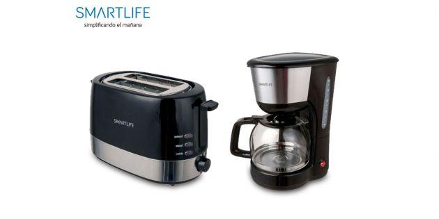 Cafetera 1.25 lts + Tostadora SmartLife