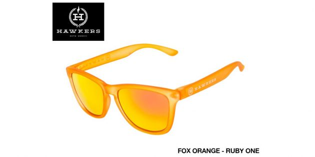 Lentes de sol unisex Hawkers fox orange - ruby one