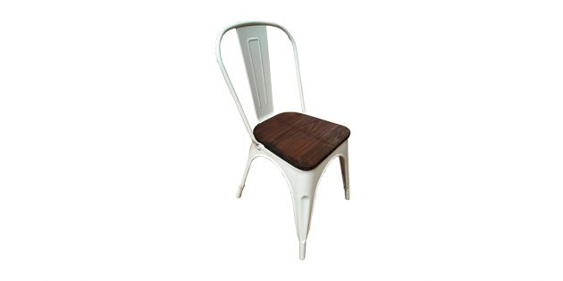 Silla de metal apilable