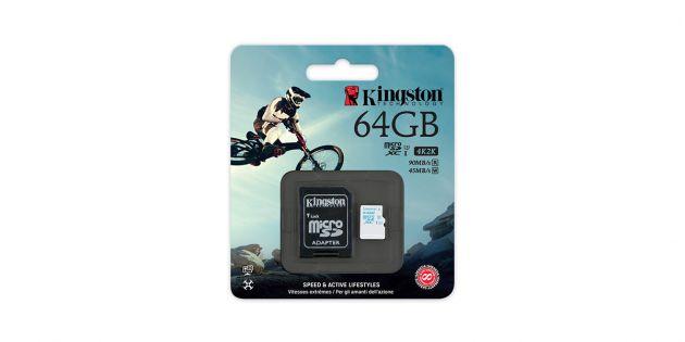 Memoria Kingston para Camara de Accion 64GB