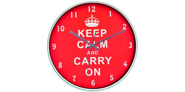 Reloj de pared keep calm