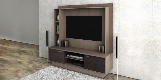 Modular para TV color castaño combinado