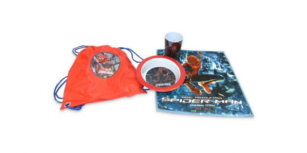 Set social, bowl,vaso y bolsa de merienda Spiderman
