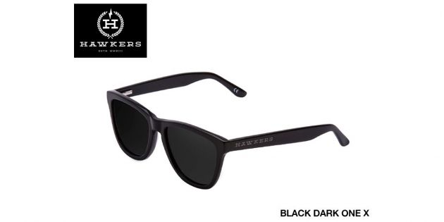 Lentes de sol unisex Hawkers Black dark one X