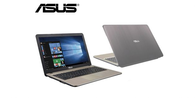 Notebook Asus 15.6 Dualcore 500GB Win 10