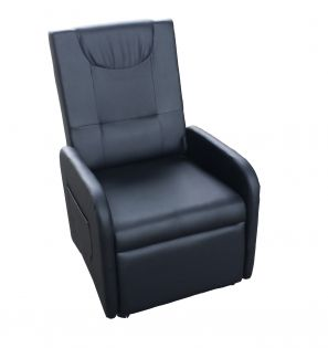 Poltrona reclinable color negro