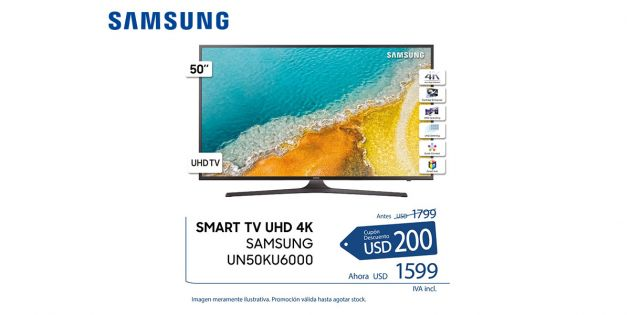 Led Smart TV Samsung 50 UHD 4K