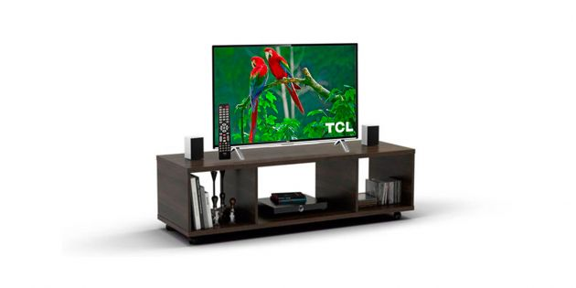 Smart TV TCL 32 + Rack MDP color Tabaco