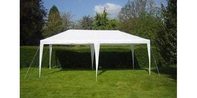 Gazebo sin paredes color blanco