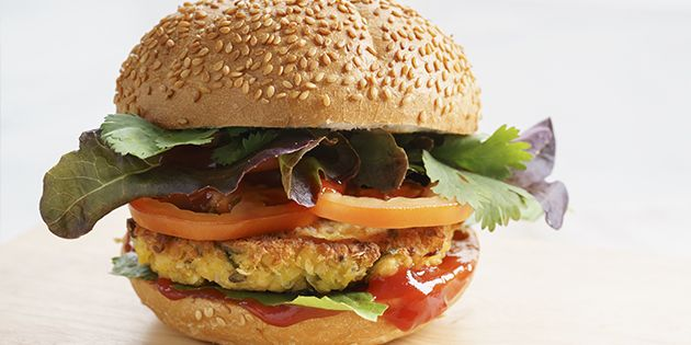 Hamburguesa vegetarianas para dos- Guru MVD