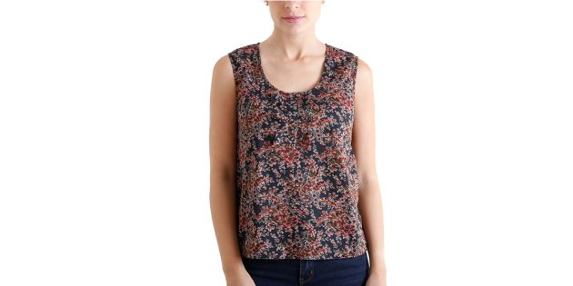 Blusa Old Navy moñas Flores Bordeaux